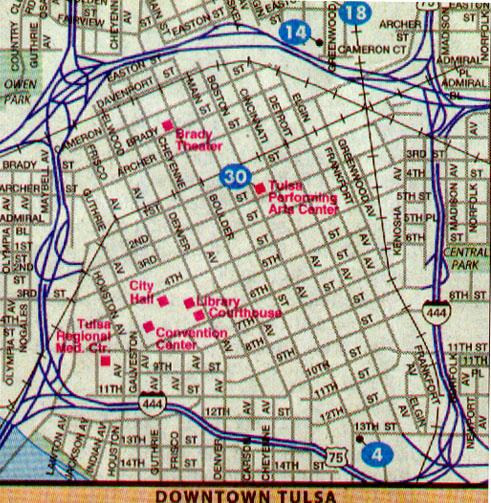 Map Index Tulsa Co OK
